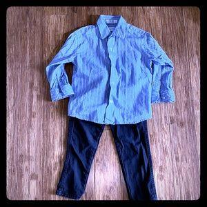 Adorable Calvin Klein Button Up Shirt with Pants